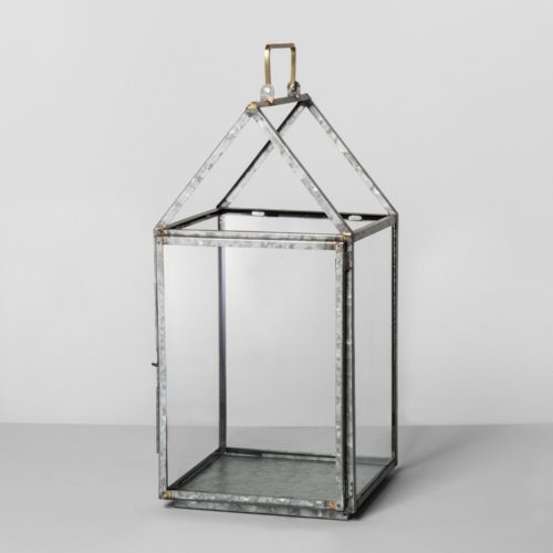 Galvanized House Lantern Large