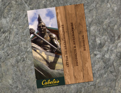 Cabela's Annual Report Cover