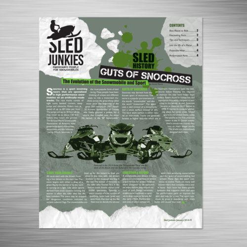 Sled Junkies Newsletter Cover