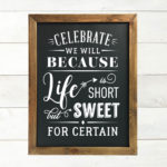 Chalkboard Printable Artwork