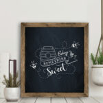 Baking up something sweet chalkboard