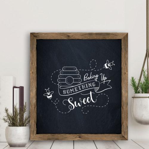 Baking up something sweet chalkboard