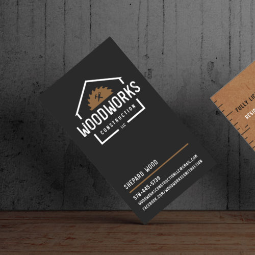 Woodworks Construction Business Cards