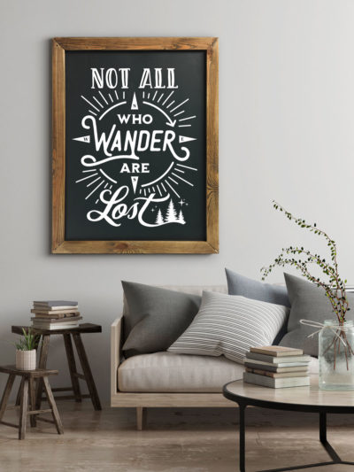 Not All Who Wander Are Lost Chalkboard