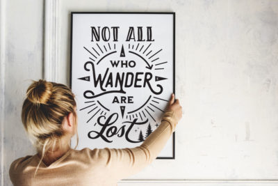 Not All Who Wander Are Lost Picture