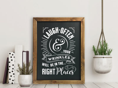 Printable chalkboard wall art