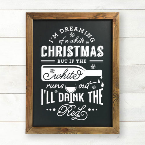 Christmas chalkboard wall decor