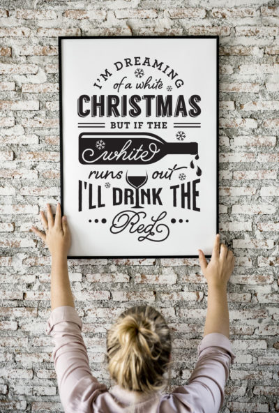 Drinking on christmas wall art