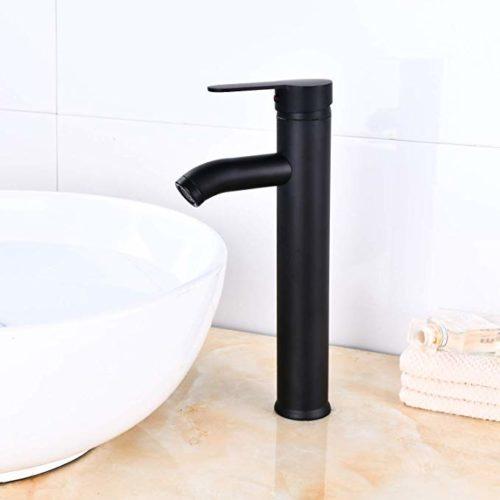 Matte Black Vessel Sink Faucet