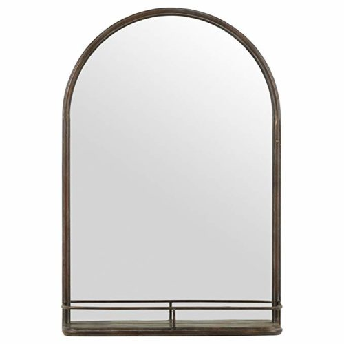 Iron Mirror with Shelf