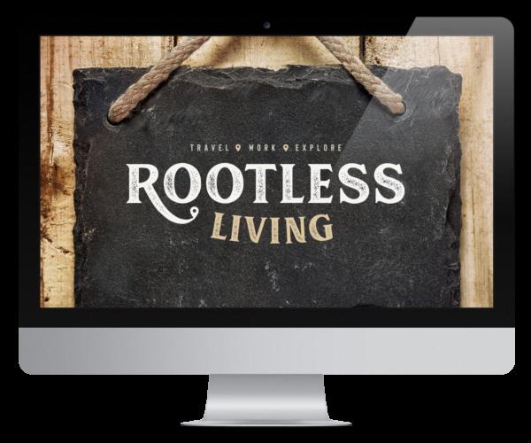 Rootless Living Magazine Mockup