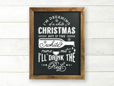 White Christmas Printable