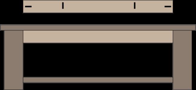 Chunky Farmhouse Coffee Table Plans (Side)