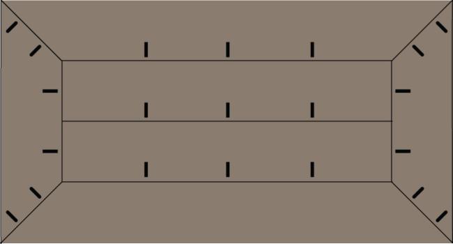 Chunky Farmhouse Coffee Table Plans (Top of Table)