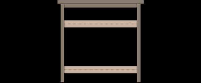 Pallet Tv Stand (Side)
