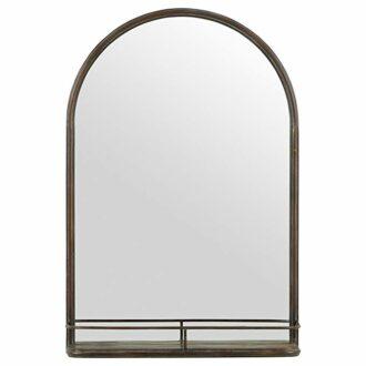 Iron Mirror with Shelf