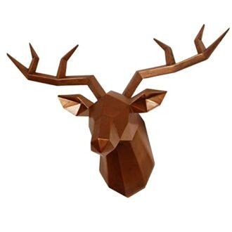 Geometric Aged Copper Deer Mount
