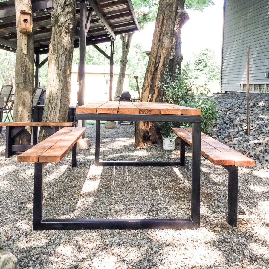 Industrial Farmhouse Picnic Table