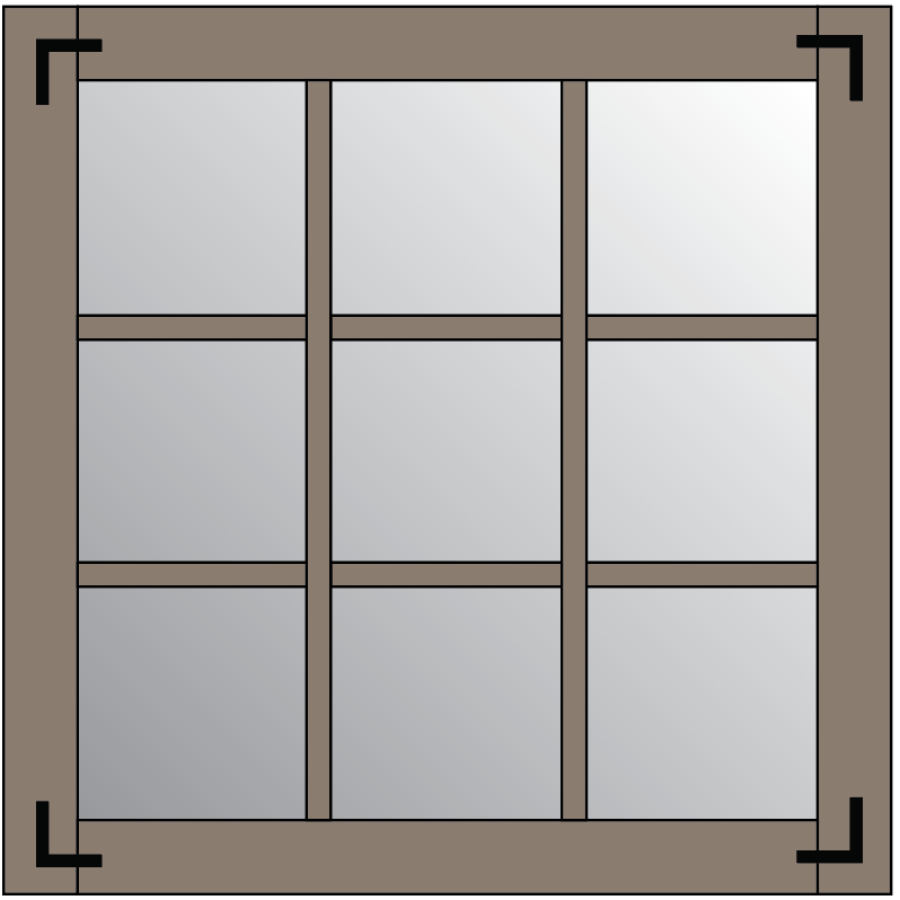 IKEA Minde Mirror Farmhouse Mirror Step 3