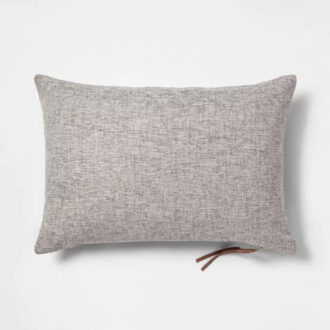 Wooven Gray Throw Pillow