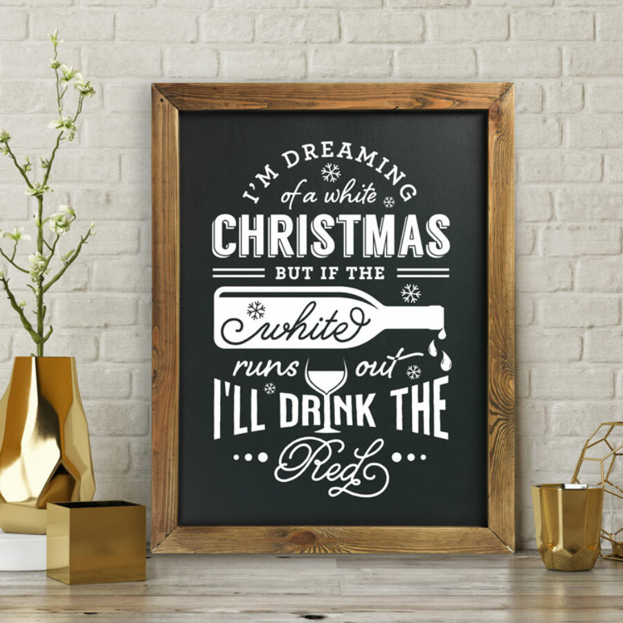 White Christmas and wine