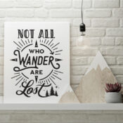 Not All Who Wander Are Lost Printable Wall Art