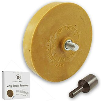 Decal Remover Wheel to remove RV decals