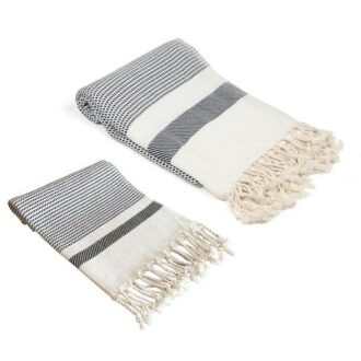 Olive and Linen Towels