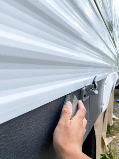 How to paint a camper