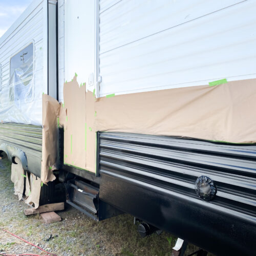 Painting a camper exterior