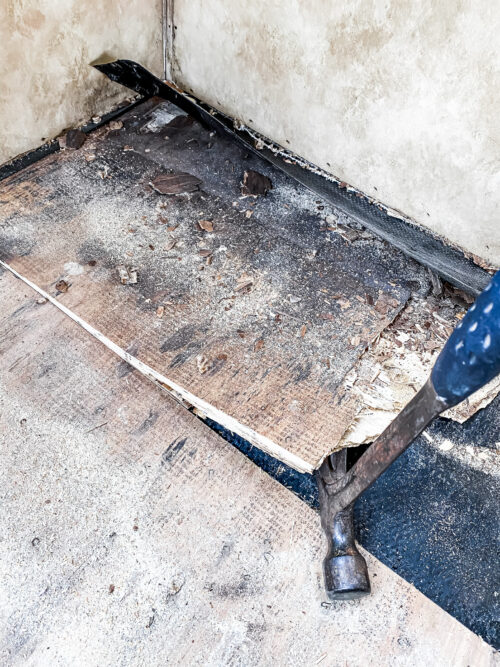 Removing Old Subfloor in a camper