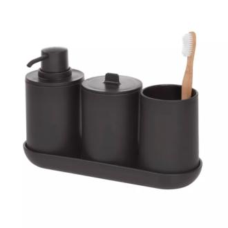 Matte Black Bathroom Set
