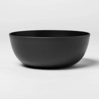 Matte Black Plastic Bowls