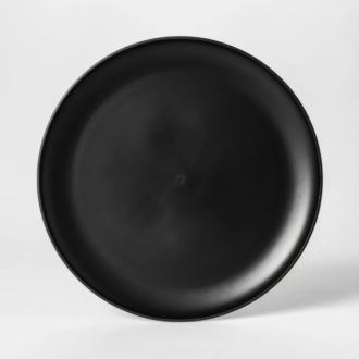 Matte Black Plastic Plates